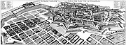 Map of Berlin in 1652, showing the fortress. Created by Matthäus Merian the elder (1593-1655) who was a German engraver