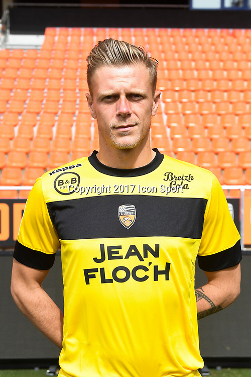 Paul Delecroix during photoshooting of FC Lorient for new season 2017/2018 on September 12, 2017 in Lorient, France. (Photo by Philippe Le Brech/Icon Sport)