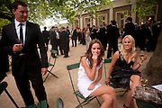 ROB MONTAGUE; JESSIE HOWE; CHLOE WRIGHT, The Grand Prix Ball, before the Formula One,<br /> British Grand Prix at Silverstone,The Hurlingham Club, London. 7 July 2010. -DO NOT ARCHIVE-© Copyright Photograph by Dafydd Jones. 248 Clapham Rd. London SW9 0PZ. Tel 0207 820 0771. www.dafjones.com.