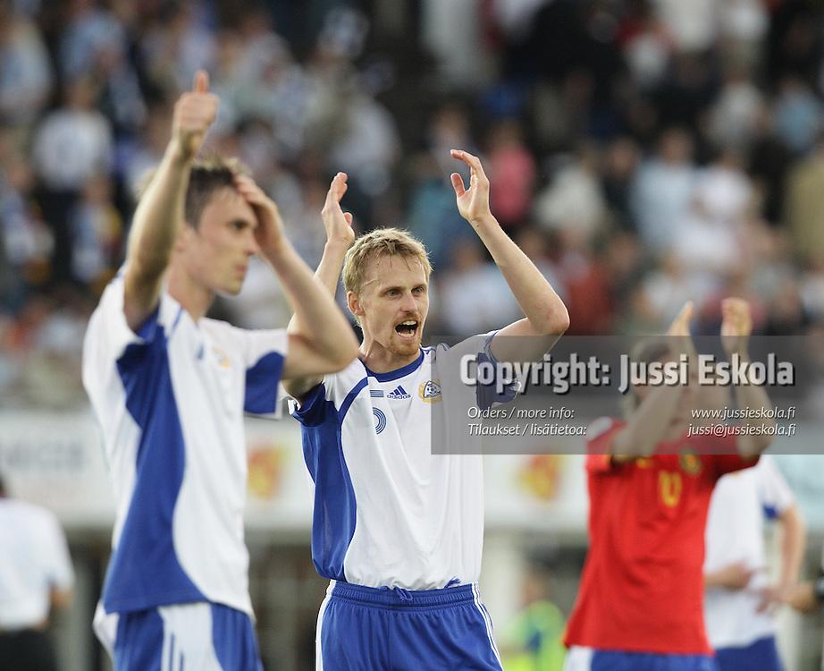 Hannu Tihinen. Suomi ? Belgia, EM-karsinta, Helsinki, Olympiastadion 6.6.2007. Photo: Jussi Eskola