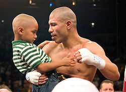 June 5, 2007; New York, NY, USA;  WBA Welterweight Champion Miguel Cotto and Zab Judah during their 12 round bout for the WBA Welterweight Championship at Madison Square Garden in New York City.