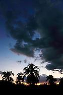 Evening on the south coast road from Santiago de Cuba to Pilon.