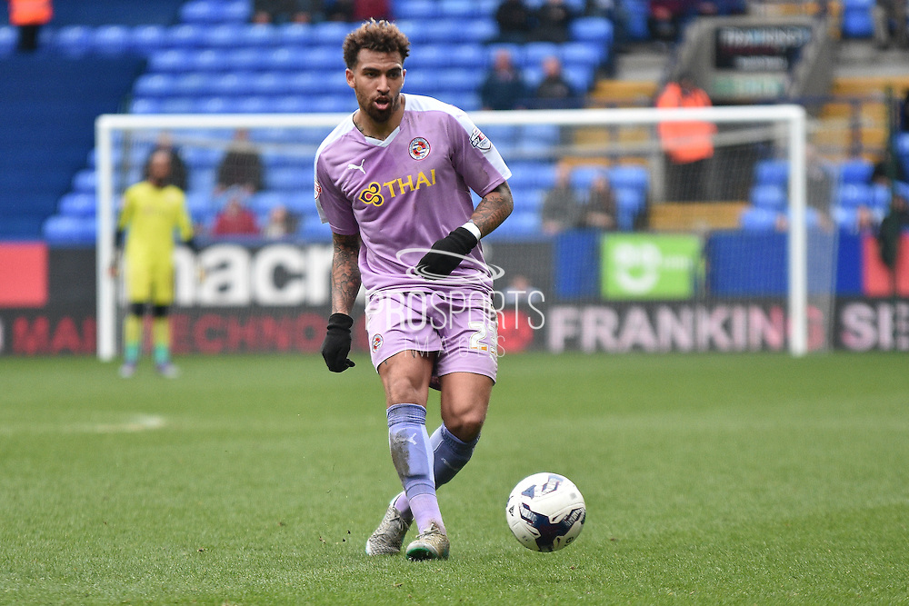 Reading Midfielder, Daniel Williams on the ball during the Sky Bet Championship match between Bolton Wanderers and Reading at the Macron Stadium, Bolton, England on 2 April 2016. Photo by Mark Pollitt.
