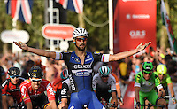 LONDON UK 31ST JULY 2016:  Tom Boonen (BEL). The Prudential RideLondon-Surrey 100 Sportive in London 31st July 2016<br /> <br /> Photo: Bob Martin/Silverhub for Prudential RideLondon<br /> <br /> Prudential RideLondon is the world's greatest festival of cycling, involving 95,000+ cyclists – from Olympic champions to a free family fun ride - riding in events over closed roads in London and Surrey over the weekend of 29th to 31st July 2016. <br /> <br /> See www.PrudentialRideLondon.co.uk for more.<br /> <br /> For further information: media@londonmarathonevents.co.uk