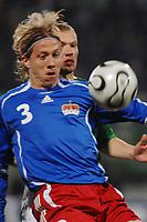 Fotball<br /> Liechtenstein v Nord Irland<br /> 24.03.2007<br /> Foto: Gepa/Digitalsport<br /> NORWAY ONLY<br /> <br /> Michael Stocklasa (LIE) und Warren Feeney (NIR)