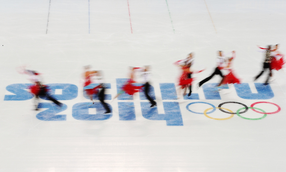 Cathy Reed and Chris Reed from Japan perform during the Ice Dance Short Dance of the Figure Skating event at the Iceberg Palace during the Sochi 2014 Olympic Games, Sochi, Russia, 16 February 2014.