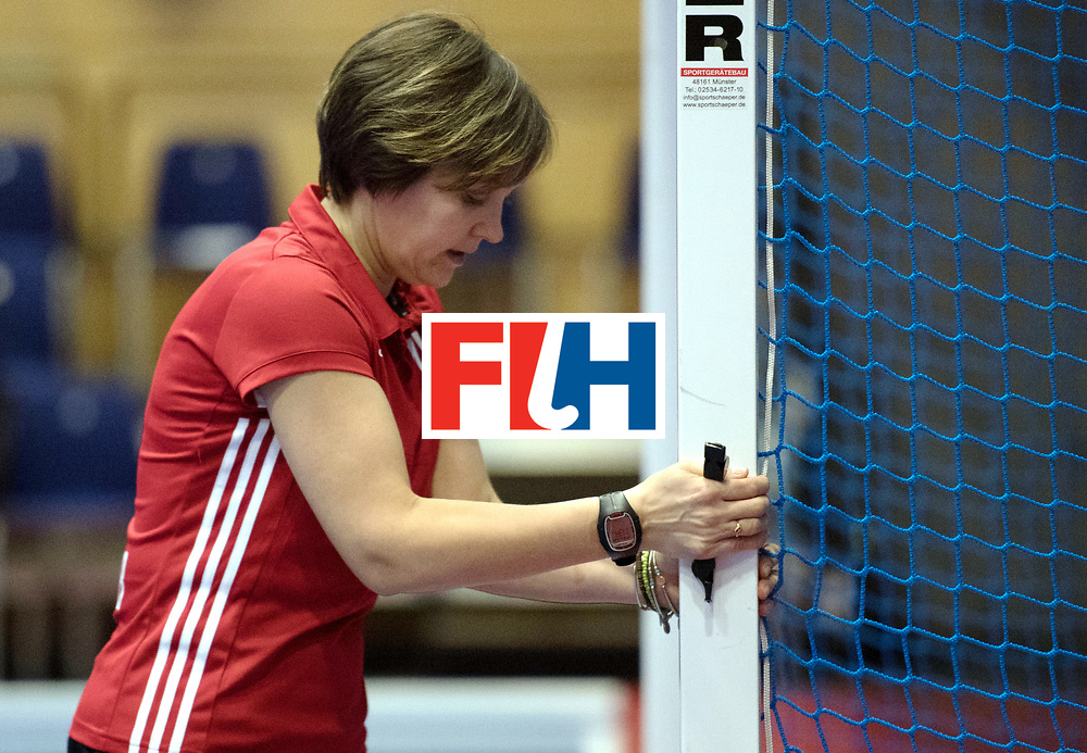 BERLIN - Indoor Hockey World Cup<br /> Australia - Namibia<br /> foto: Umpire ESKINA Elena<br /> WORLDSPORTPICS COPYRIGHT FRANK UIJLENBROEK