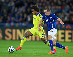 LEICESTER, ENGLAND - Wednesday, April 29, 2015: Chelsea's Willian Borges da Silva in action against Leicester City during the Premier League match at Filbert Way. (Pic by David Rawcliffe/Propaganda)