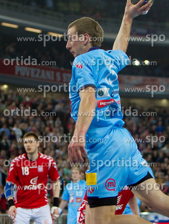 Jure Susin of Slovenia during handball match between National teams of Slovenia and Poland of Qualification Group 3 for Men's EURO 2012, on March 9, 2011 in Arena Stozice, Ljubljana, Slovenia. Slovenia defeated Poland 30-28. (Photo By Vid Ponikvar / Sportida.com)