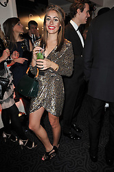 CAT FRASER at Quintessentially's 10th birthday party held at The Savoy Hotel, London on 13th December 2010.