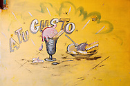 Ice cream sign in Bauta, Artemisa, Cuba.