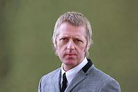 Glenn Patterson is a writer from Belfast, best known as a novelist.<br /> Edinburgh International Book Festival 2014 photos taken in Charlotte Square Gardens. Edinburgh. Pako Mera 11/08/2014