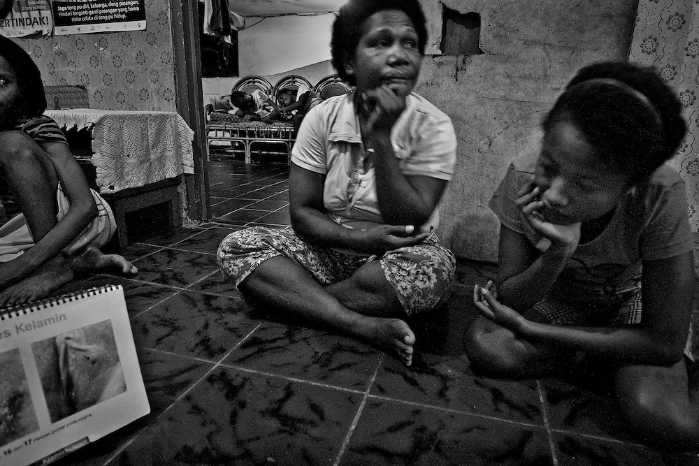 Mama Fin, a worker for Yayasan Harapan Ibu (YHI) or Mother's Hope, provides shelter and education to sex street workers.