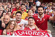 Sevilla fans  during the Emirates Cup 2017 match between Arsenal and Sevilla at the Emirates Stadium, London, England on 30 July 2017. Photo by Sebastian Frej.