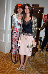 Left to right, VALERIE SYKES and her daughter PLUM SYKES at The Caron Keating Foundation Dinner in honour of the late TV presenter who died in April 2004, held at The Savoy, London on 4th October 2004.<br /><br />NON EXCLUSIVE - WORLD RIGHTS