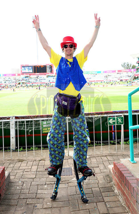 Stilt man during match 17 of the Karbonn Smart CLT20 South Africa between The Chennai Superkings and Yorkshire held at Kingsmead Park in Durban, South Africa on the 22nd October 2012..Photo by Gerhard Duraan/SPORTZPICS/CLT20