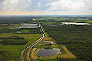 Nederland, Drenthe, Gemeente Steenwijkerland , 30-06-2011;  Weerribben.Nationaal Park Weerribben-Wieden vroegere winning van turf, heden riet. National Park Weerribben-Wieden former peat extraction area, now reed..luchtfoto (toeslag), aerial photo (additional fee required).copyright foto/photo Siebe Swart