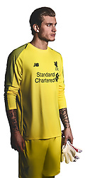 LIVERPOOL, ENGLAND - Thursday, April 19, 2018: A hand-out image from Liverpool Football Club of their new 2018-19 season kit featuring top scorer Mohamed Salah. (Pic by Pool/Liverpool Football Club via Propaganda)