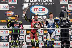 #67 Shane 'Shakey' Byrne Be Wiser Ducati Racing Team (PBM) MCE British Superbike Championship  #77 James Ellison McAMS Yamaha MCE British Superbike Championship  #24 Christian Iddon Tyco BMW Motorrad MCE British Superbike Championship  Podium