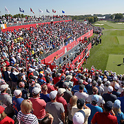Ryder Cup 2016. Day One. Thomas Pieters of Europe tees off at the first hole in the Friday afternoon four-ball competition during the Ryder Cup at Hazeltine National Golf Club on September 30, 2016 in Chaska, Minnesota.  (Photo by Tim Clayton/Corbis via Getty Images)