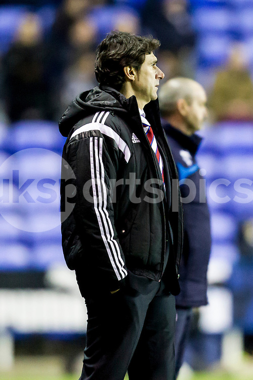Middlesbrough manager Aitor Karanka looks on during the Sky Bet Championship match between Reading and Middlesbrough at the Madejski Stadium, Reading, England on 10 January 2015. Photo by Gareth  Brown.