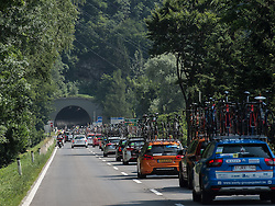 07.07.2015, Judendorf, AUT, Österreich Radrundfahrt, 3. Etappe, Windischgarsten nach Judendorf, im Bild Teamautos der Ö-Tour // teamcars during the Tour of Austria, 3rd Stage, from Windischgarsten to Judendorf, Judendorf, Austria on 2015/07/07. EXPA Pictures © 2015, PhotoCredit: EXPA/ Reinhard Eisenbauer