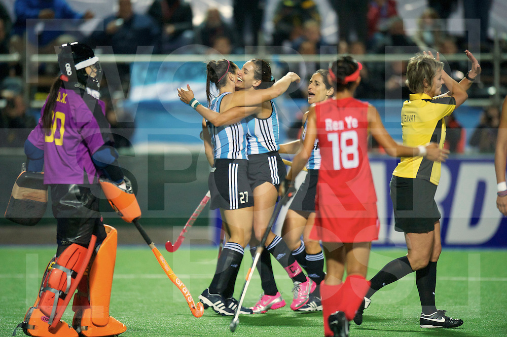 ROSARIO - WORLDCUP HOCKEY WOMAN.Wereld kampioenschap hockey dames .China vs Argentina.1-0 celebrating Noel Barrionunevo and Luciana Aymar..FFU PRESS AGENCY COPYRIGHT FRANK UIJLENBROEK..
