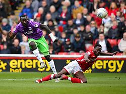 Famara Diedhiou of Bristol City scores a goal to make it 1-1 - Mandatory by-line: Robbie Stephenson/JMP - 30/03/2018 - FOOTBALL - Oakwell Stadium - Barnsley, England - Barnsley v Bristol City - Sky Bet Championship