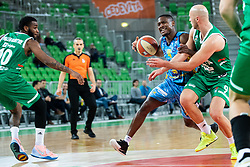 Sterling Dupree Gibbs  of KK Sixt Primorska during basketball match between KK Cedevita Olimpija and KK Sixt Primorska in Round #17 of ABA League 2019/20, on January 26, 2020 in Arena Stozice, Ljubljana, Slovenia. Photo By Grega Valancic / Sportida