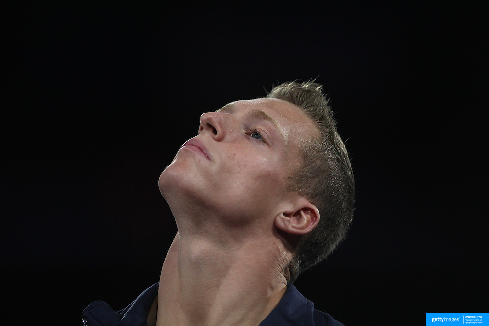 Steven Legendre, Norman, Oklahoma, during the Senior Men Competition at The 2013 P&G Gymnastics Championships, USA Gymnastics' National Championships at the XL, Centre, Hartford, Connecticut, USA. 16th August 2013. Photo Tim Clayton