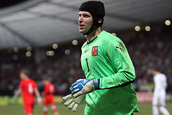 Goalkeeper of Czech republic Petr Cech after  the 8th day qualification game of 2010 FIFA WORLD CUP SOUTH AFRICA in Group 3 between Slovenia and Czech Republic at Stadion Ljudski vrt, on March 28, 2008, in Maribor, Slovenia. Slovenia vs Czech Republic 0 : 0. (Photo by Vid Ponikvar / Sportida)