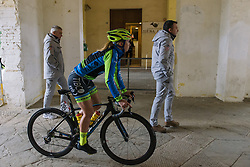 Kendall Ryan makes her way to sign in - 2016 Strade Bianche - Elite Women, a 121km road race from Siena to Piazza del Campo on March 5, 2016 in Tuscany, Italy.