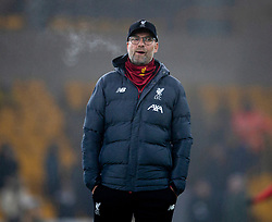 WOLVERHAMPTON, ENGLAND - Thursday, January 23, 2020: Liverpool's manager Jürgen Klopp during the pre-match warm-up before the FA Premier League match between Wolverhampton Wanderers FC and Liverpool FC at Molineux Stadium. (Pic by David Rawcliffe/Propaganda)