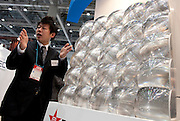 CPV (concentrating PV) cells at the PV Expo 2009, Tokyo International Exhibition Center, Tokyo, 26 February 2009.