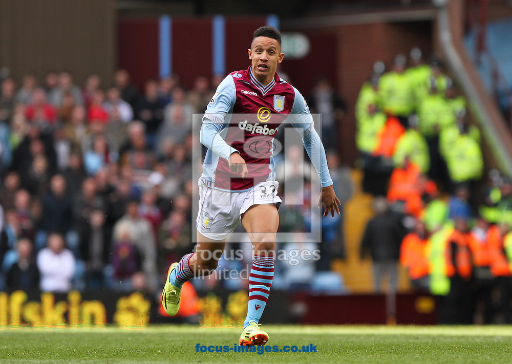 Callum Robinson of Aston Villa during the Barclays Premier League match at Villa Park, Birmingham<br /> Picture by Tom Smith/Focus Images Ltd 07545141164<br /> 19/04/2014