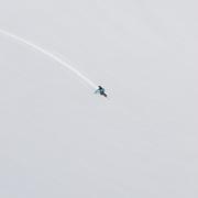 Óliver Hilmarsson skiing mt. Darri 748m. Hvalvatnsfjörður, Iceland.