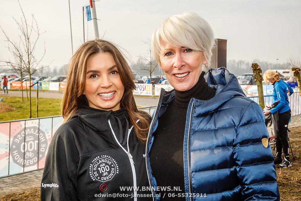 NLD/Biddinghuizen/20160306 - Hollandse 100 Lymphe & Co 2016, Rosanna Kluivert - Lima en vriendin Monique des Bouvrie