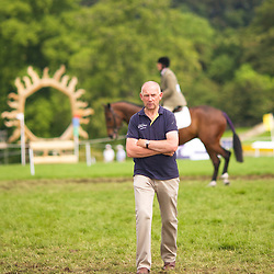 Alan Townend of Harthill Stud, preparing for the Burghley Young Event Horse 5 year old class