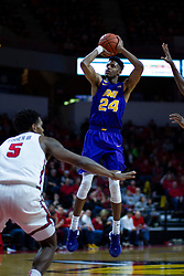 NORMAL, IL - December 31: Isaiah Brown defended by Keith Fisher III during a college basketball game between the ISU Redbirds and the University of Northern Iowa Panthers on December 31 2019 at Redbird Arena in Normal, IL. (Photo by Alan Look)