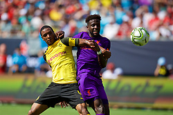 CHARLOTTE, USA - Sunday, July 22, 2018: Liverpool's Divock Origi during a preseason International Champions Cup match between Borussia Dortmund and Liverpool FC at the  Bank of America Stadium. (Pic by David Rawcliffe/Propaganda)