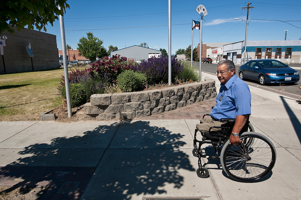 Wapato Mayor Jesse Farias makes the rounds through town and says his real job is out there, not in the office. PHOTO BY KAI-HUEI YAU//KAIPHOTO.NET//541.221.2586