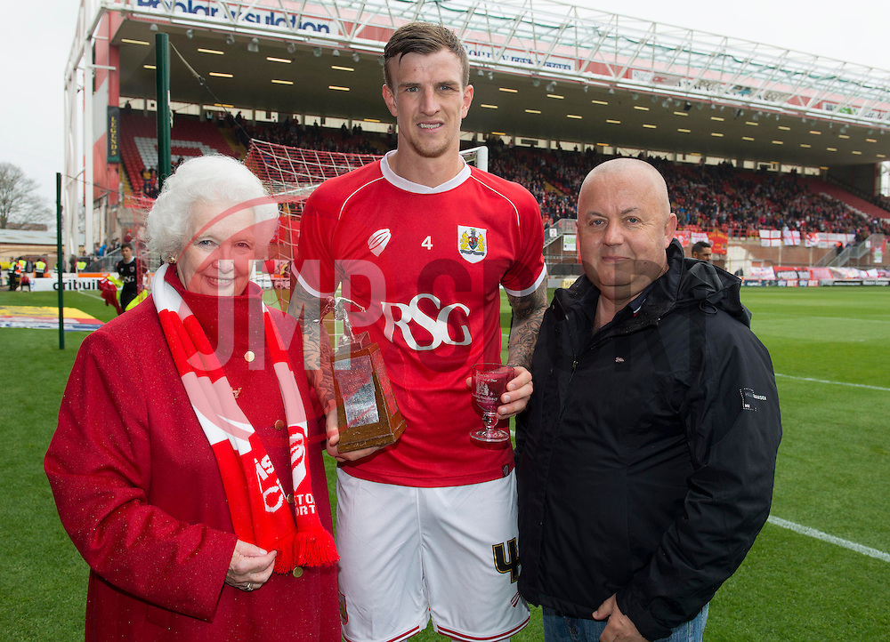 Bristol City's Aden Flint, Supporters Trust award for outstanding performance - Photo mandatory by-line: Joe Meredith/JMP - Mobile: 07966 386802 - 03/05/2015 - SPORT - Football - Bristol - Ashton Gate - Bristol City v Walsall - Sky Bet League One