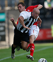 Photo: Steve Bond/Richard Lane Photography. Nottingham County v Nottigham Forest. Pre season Friendly. 25/07/2009. Luke Rodgers is fouled