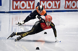 February 8, 2019 - Torino, Italia - Foto LaPresse/Nicolò Campo .8/02/2019 Torino (Italia) .Sport.ISU World Cup Short Track Torino - 500 meter Men Preliminaries.Nella foto: Shuai Yang..Photo LaPresse/Nicolò Campo .February 8, 2019 Turin (Italy) .Sport.ISU World Cup Short Track Turin - 500 meter Men Preliminaries.In the picture: Shuai Yang (Credit Image: © Nicolò Campo/Lapresse via ZUMA Press)