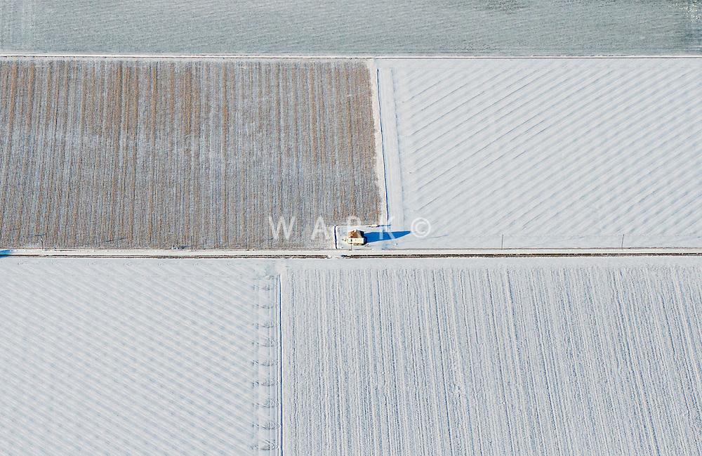 Frozen Pueblo County farmland. Feb 2014.