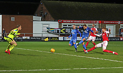 Danny Lloyd of Peterborough United scores the winning goal - Mandatory by-line: Joe Dent/JMP - 17/12/2017 - FOOTBALL - Highbury Stadium - Fleetwood, England - Fleetwood Town v Peterborough United - Sky Bet League One