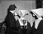 1953 - Presentation of egg-laying Competition, trophy to St. Martha's College