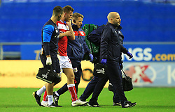 Bristol City's Tomas Kalas is forced off with an injury - Mandatory by-line: Matt McNulty/JMP - 21/09/2018 - FOOTBALL - DW Stadium - Wigan, England - Wigan Athletic v Bristol City - Sky Bet Championship