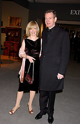 JANE HORROCKS and JOHN GORDON SINCLAIR at the British Antiques Dealers Association antiques & Fine art fair in aid of the charity Childline held at the Duke of York Square, Chelsea, London on 23rd March 2006.<br />