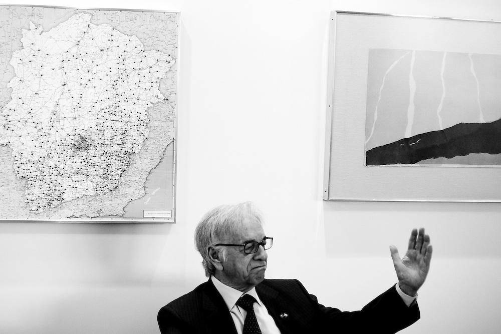 Belo Horizonte_MG, Brasil...Ex-presidente do Brasil Itamar Franco em uma entrevista...The Brazilian ex-president Itamar Franco in an interview...Foto: JOAO MARCOS ROSA / NITRO